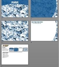 蓝色细胞PPT模板