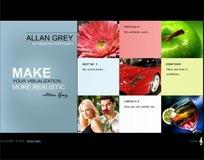 ALLAN GREY个人网页模板