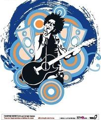 创意摇滚人物插图设计