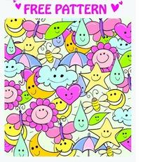 free pattern免费模式挤压在一起的彩色天气符号AI矢量文件