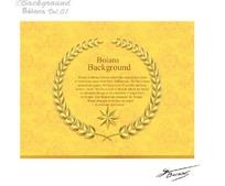 黄色欧式花纹底金色麦穗框素材AI矢量文件