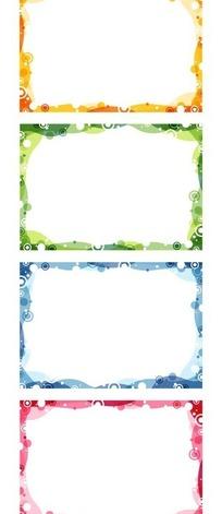 简洁四色圆点边框设计模板