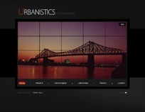 欧美城市景观建筑设计类网页模板