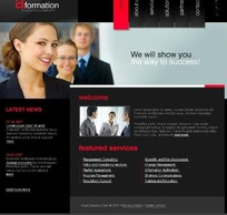 欧美黑色调咨询管理公司网站网页HTML源码