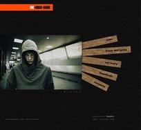 欧美摇滚乐队网页设计模版