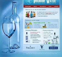 premium water 网页模板