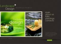 清新景观设计机构网站网页模板