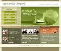 商业公司网站网页HTML源码