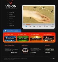 商业视频素材网站网页源码