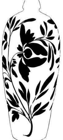 手绘带花陶瓷罐
