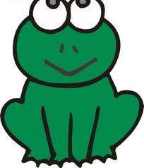 绿色青蛙图片_绿色青蛙设计素材
