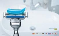 剃须刀创意广告素材