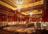 星级酒店奢华大厅装修设计效果图