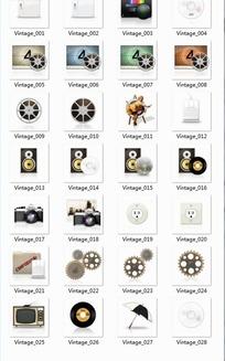 怀旧影音设备及道具透明图标PGN格式