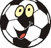 卡通笑脸足球