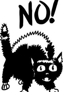 黑色 猫头简笔画