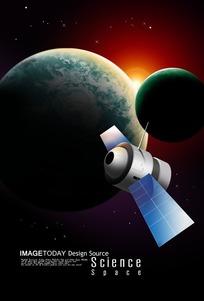 宇宙太空科技PSD素材