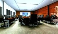 豪华中型会议室装饰效果图模板素材