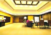 橘黄色门厅豪华装饰效果图模板