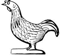 卡通公鸡图案设计