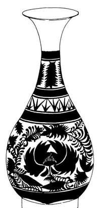 卡通青花瓷花瓶