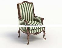 绿白条纹欧式靠椅