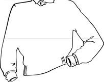 男款外衣设计线稿图