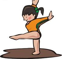 caonv图片_踢腿的拳击运动员卡通画
