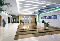 中国联通门厅装饰效果图模板素材