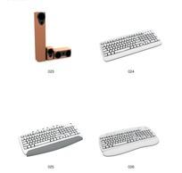 4款键盘音响3D模型
