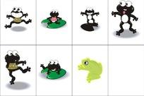 动物卡通插图-小青蛙