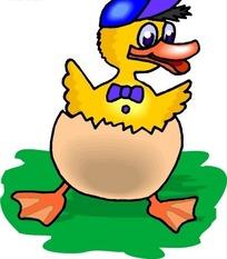儿童手绘蛋壳里的小鸭子下载 1693873