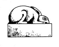 伏地兔子玉石雕刻线稿