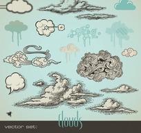 各种形状的云彩