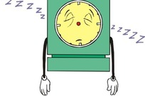 睡觉的钟卡通画