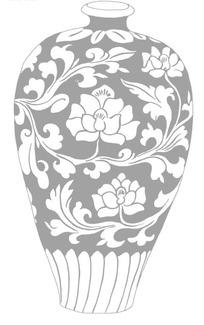 陶瓷花纹矢量素材