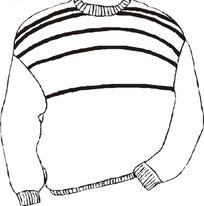 线描简笔画毛衣