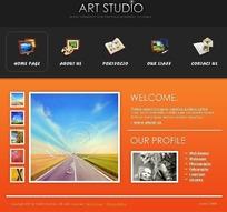 艺术作品相册展示全站代码