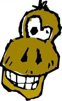 手绘黄色的猴子头像