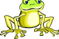 手绘趴在地上的小青蛙