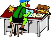 手绘写作业的小鹦鹉