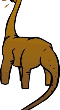 手绘一只褐色长颈龙下载 1692373