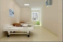 医院双人病房设计效果图
