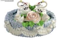 点缀着两只可爱小天鹅的蛋糕(带PSD Mask抠图遮罩)