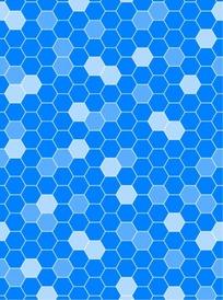 蜂巢状花纹蓝色背景