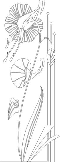 黑白花卉矢量素材