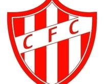 红色CFC足球俱乐部矢量标志设计