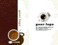 咖啡杯名片模板