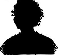人物剪影美女头像