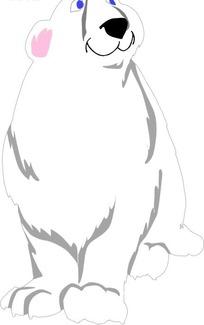 手绘一只可爱的北极熊蚊子飞进耳朵不动了图片